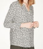 Thought Damen-Bluse lg.A., 50% Bio-Baumwolle(kbA), 50% Modal,  natur gemustert