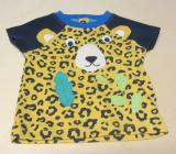 Frugi Shirt kurzarm kurz, 100% Bio-Baumwolle (kbA), gelb Leopard