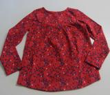 Tranquillo Shirt langarm, 95% Bio-Baumwolle(kbA), rot gemustert