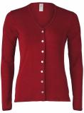 Engel Damen-cardigan langarm, 70% Bio-Wolle (kbT) und Seide,  malve
