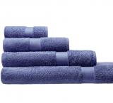 Cotonea Frottee Handtuch, 100% Bio-Baumwolle (kbA), blau