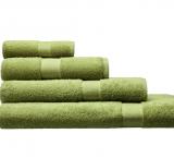 Cotonea Frottee Handtuch, 100% Bio-Baumwolle (kbA), grün