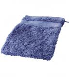Cotonea Frottee Waschhandschuh, 100% Bio-Baumwolle (kbA), blau 16x21cm
