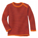 Disana Baby Strickpulli, 100% Bio-Wolle(kbT), bordeaux - orange
