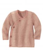 Disana-Strick-Wickel-Jacke, Bio-Wolle, rosa-natur