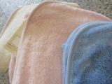Leela cotton Baby-Kapuzen-Badetuch, 100% Bio-Baumwolle (kbA), hellblau
