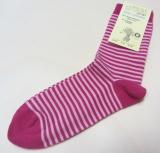 Socken, Bio-Baumwolle, pink-rosa geringelt