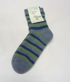 Socken, Bio-Baumwollfrottee, grau-grün