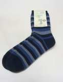 Socken, Bio-Baumwollfrottee, marine-jeans