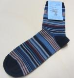 Socken, Bio-Wolle-Baumwolle, marine bunt