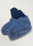 Cosilana Baby-Woll-Fleece-Schühchen, 60% Bio-Wolle(kbT) u. 40% Bio-Baumwolle(kbA), marine melange