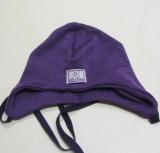 Mütze PICKAPOOH-Radler, 70% Bio-Wolle (kbT) u. Seide, lila