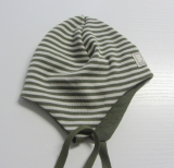 Mütze PICKAPOOH-Radler, 70% Bio-Wolle (kbT) und Seide, dijon-grau