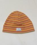 Mütze PICKAPOOH-Schlupper, 97% Bio-Baumwolle (kbA), orange bunt