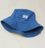 Mütze mit Krempe und Tunnelzug,  PICKAPOOH-Fischerhut UV 60, 100% Bio-Baumwolle (kbA), blau