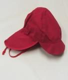 Mütze mit Schild, PICKAPOOH-Felix UV 80, 100% Bio-Baumwolle (kbA), rot