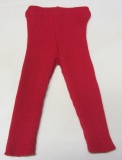 Disana Strick-Leggings,100% Bio-Wolle (kbT), rot
