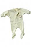 Schlafanzug einteilig, Bio-Wollfrottee, natur