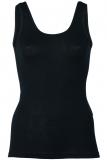 Engel Damen-Achselhemd, 70% Bio-Wolle (kbT) und Seide, schwarz