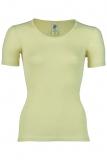Damen-Hemd kurzarm, Wolle-Seide, natur