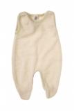 Engel Strampler mit Fuß, 100% Bio-Baumwollfrottee (kbA), natur geringelt