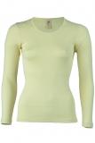 Damen-Hemd langarm, Wolle-Seide, natur