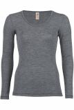 Damen-Shirt langarm, Wolle, saphir