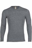Engel Herren-Shirt langarm, 100% Bio-Wolle (kbT), schiefer