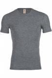 Herren-Shirt kurzarm, Wolle, türkis