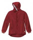 Disana Walk-Jacke mit Kapuze, 100% Bio-Wolle (kbT), rot