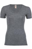 Engel Damen-Shirt kurzarm, 100% Bio-Wolle (kbT), schiefer
