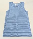 Achselhemd, Bio-Baumwolle, blau-marine-weiß
