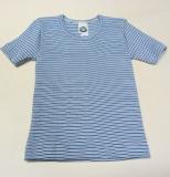 Hemd kurzarm, Bio-Baumwolle, blau-marine-weiß