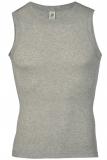 Engel Herren-Achselshirt, 100% Bio-Baumwolle (kbA), silber