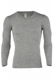 Engel Herren-Shirt langarm, 70% Bio-Wolle(kbT) u. Seide, hellgrau melange