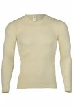 Engel Herren-Shirt langarm, 70% Bio-Wolle (kbT) u. Seide, natur
