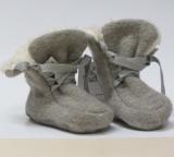 Pickapooh Stiefelchen, 100% Bio-Wollwalk (kbT), stein