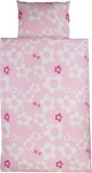 Kissenbezug blume rosa, Baumwolle, natur auf rosa