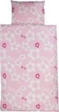 Bettbezug blume rosa, Baumwolle, natur auf rosa