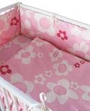 Baby-Nest blume rosa, Baumwolle, natur auf rosa