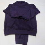 Schlafanzug zweiteilig,Bio-Wollfrottee, lila
