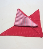 Dreiecktuch, Bio-Baumwolle, rot-weiß