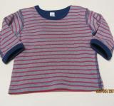 Shirt langarm, Bio-Baumwolle, marine-rot