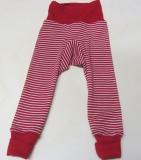 Cosilana Baby-Legging, 70% Bio-Wolle (kbT) und Seide, rot geringelt