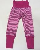 Baby-Legging, Bio-Wolle und Seide, pink geringelt