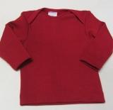Cosilana Baby-Schlupfhemd langarm, 70% Bio-Wolle (kbT) und Seide, rot