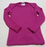 Baby-Schlupfhemd langarm, Bio-Wolle und Seide, pink