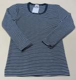Cosilana Unterhemd langarm, 70% Bio-Wolle (kbT) und Seide, marine geringelt