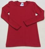 Unterhemd langarm, Bio-Wolle und Seide, rot