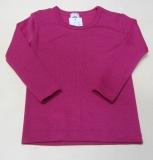 Unterhemd langarm, Wolle-Seide, pink